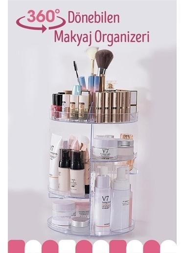 Bayev Bayev 360 Derece Dönebilen Makyaj Kozmetik Organizeri Renkli
